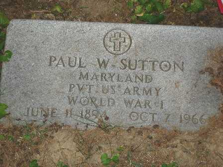 SUTTON, PAUL W. - Hamilton County, Ohio | PAUL W. SUTTON - Ohio Gravestone Photos