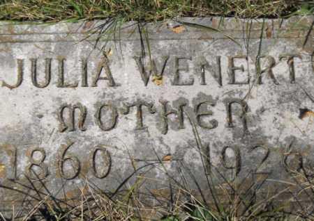 WENERT, JULIA - Hamilton County, Ohio   JULIA WENERT - Ohio Gravestone Photos