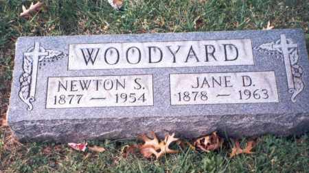 WOODYARD, NEWTON S. - Hamilton County, Ohio | NEWTON S. WOODYARD - Ohio Gravestone Photos