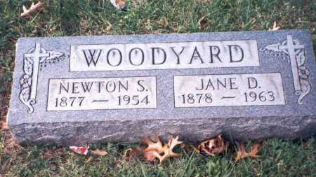 DAILEY WOODYARD, JANE D - Hamilton County, Ohio | JANE D DAILEY WOODYARD - Ohio Gravestone Photos
