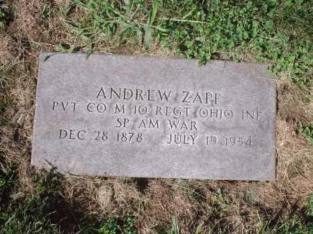 ZAPF, ANDREW - Hamilton County, Ohio   ANDREW ZAPF - Ohio Gravestone Photos