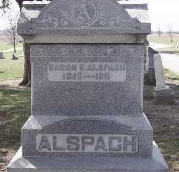 ALSPACH, SARAH E. - Hancock County, Ohio | SARAH E. ALSPACH - Ohio Gravestone Photos