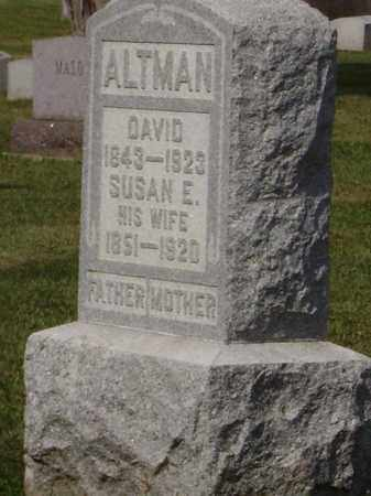 ALTMAN, SUSAN ELNORA - Hancock County, Ohio   SUSAN ELNORA ALTMAN - Ohio Gravestone Photos