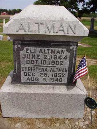 PLOTTS ALTMAN, CHRISTENA - Hancock County, Ohio | CHRISTENA PLOTTS ALTMAN - Ohio Gravestone Photos