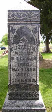 ALTMAN, ELIZABETH - Hancock County, Ohio   ELIZABETH ALTMAN - Ohio Gravestone Photos