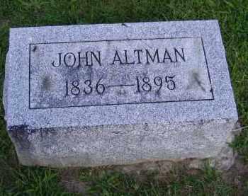 ALTMAN, JOHN - Hancock County, Ohio | JOHN ALTMAN - Ohio Gravestone Photos