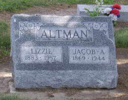 ALTMAN, LIZZIE - Hancock County, Ohio | LIZZIE ALTMAN - Ohio Gravestone Photos