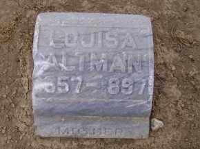 ALTMAN, LOUISA - Hancock County, Ohio | LOUISA ALTMAN - Ohio Gravestone Photos