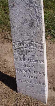 ALTMAN, SAMANTHA - Hancock County, Ohio | SAMANTHA ALTMAN - Ohio Gravestone Photos