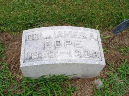 BOPE, JAMES A. - Hancock County, Ohio | JAMES A. BOPE - Ohio Gravestone Photos