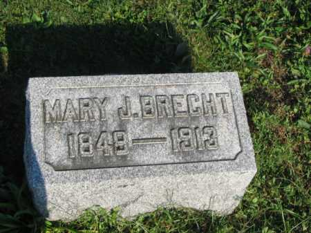 BRECHT, MARY JANE - Hancock County, Ohio | MARY JANE BRECHT - Ohio Gravestone Photos