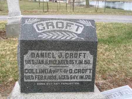 CROFT, DANIEL J - Hancock County, Ohio | DANIEL J CROFT - Ohio Gravestone Photos
