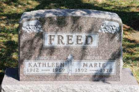 FREED, MARIE - Hancock County, Ohio | MARIE FREED - Ohio Gravestone Photos