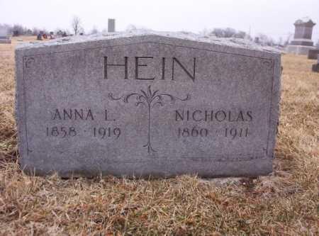 HEIN, NICHOLAS - Hancock County, Ohio | NICHOLAS HEIN - Ohio Gravestone Photos