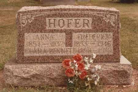 HOFER, ANNA - Hancock County, Ohio | ANNA HOFER - Ohio Gravestone Photos
