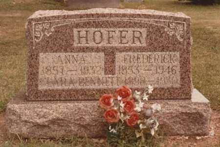 HOFER, FREDERICK - Hancock County, Ohio | FREDERICK HOFER - Ohio Gravestone Photos