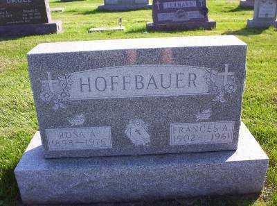 HOFFBAUER, FRANCES A. - Hancock County, Ohio   FRANCES A. HOFFBAUER - Ohio Gravestone Photos