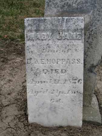 HOPPAS, MARY JANE - Hancock County, Ohio | MARY JANE HOPPAS - Ohio Gravestone Photos