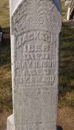 ILER, JACKSON - Hancock County, Ohio | JACKSON ILER - Ohio Gravestone Photos