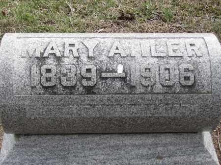 ILER, MARY A. - Hancock County, Ohio   MARY A. ILER - Ohio Gravestone Photos