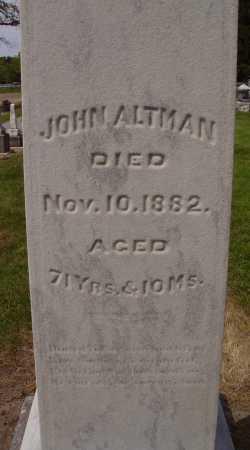 JOHN, ALTMAN - Hancock County, Ohio | ALTMAN JOHN - Ohio Gravestone Photos