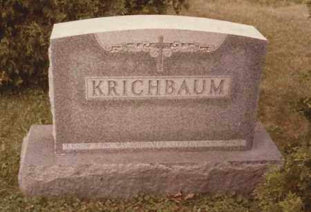 KRICHBAUM, PETER J. - Hancock County, Ohio | PETER J. KRICHBAUM - Ohio Gravestone Photos