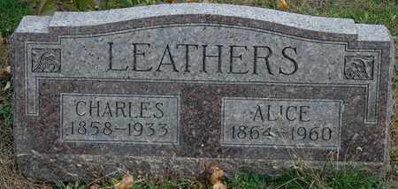 LEATHERS, CHARLES - Hancock County, Ohio | CHARLES LEATHERS - Ohio Gravestone Photos