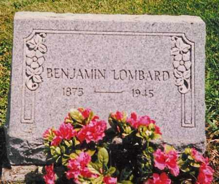 LOMBARD, BENJAMIN - Hancock County, Ohio   BENJAMIN LOMBARD - Ohio Gravestone Photos