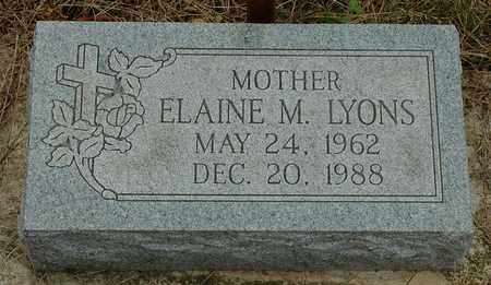 LYONS, ELAINE M. - Hancock County, Ohio   ELAINE M. LYONS - Ohio Gravestone Photos