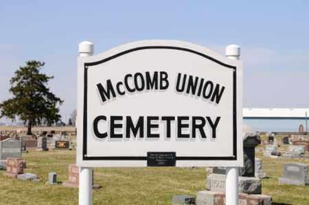 MCCOMB, UNION CEMETERY SIGN - Hancock County, Ohio   UNION CEMETERY SIGN MCCOMB - Ohio Gravestone Photos