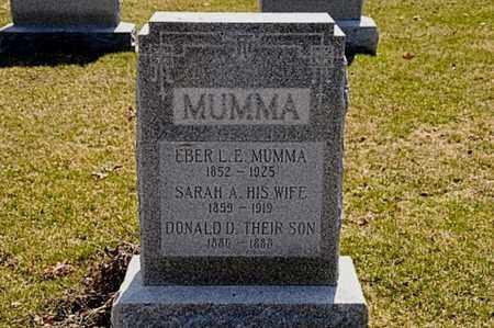 MUMMA, EBER L. E. - Hancock County, Ohio   EBER L. E. MUMMA - Ohio Gravestone Photos