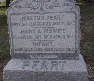 PEART, MARY A. - Hancock County, Ohio | MARY A. PEART - Ohio Gravestone Photos