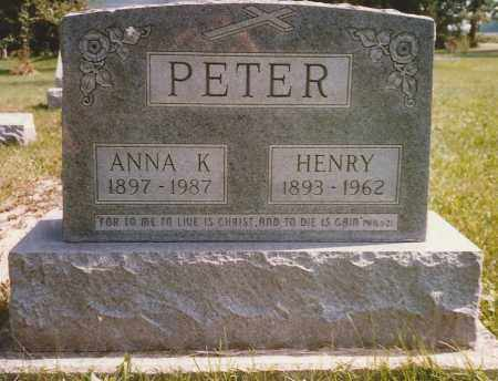 PETER, ANNA - Hancock County, Ohio | ANNA PETER - Ohio Gravestone Photos