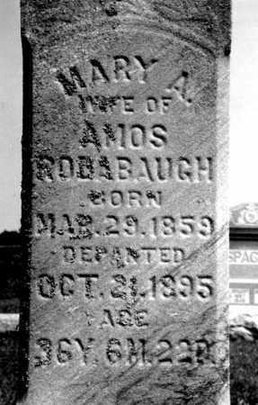 RODABAUGH, MARY A - Hancock County, Ohio   MARY A RODABAUGH - Ohio Gravestone Photos