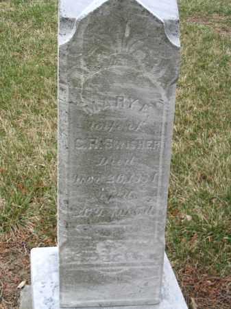 SWISHER, MARY E - Hancock County, Ohio | MARY E SWISHER - Ohio Gravestone Photos