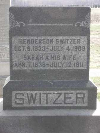 FOLK SWITZER, SARAH A. - Hancock County, Ohio | SARAH A. FOLK SWITZER - Ohio Gravestone Photos