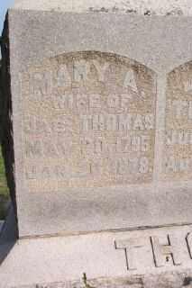 CAMPBELL THOMAS, MARY ANN - Hancock County, Ohio   MARY ANN CAMPBELL THOMAS - Ohio Gravestone Photos