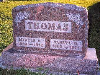 THOMAS, SAMUEL GRANT - Hancock County, Ohio   SAMUEL GRANT THOMAS - Ohio Gravestone Photos