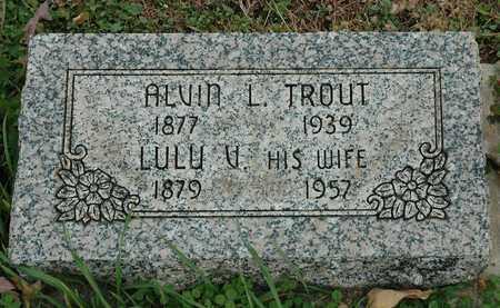 TROUT, ALVIN L. - Hancock County, Ohio | ALVIN L. TROUT - Ohio Gravestone Photos