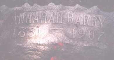 BARRY, ANNARAH - Hardin County, Ohio   ANNARAH BARRY - Ohio Gravestone Photos