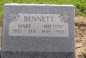 BENNETT, MARY ELLEN - Hardin County, Ohio | MARY ELLEN BENNETT - Ohio Gravestone Photos