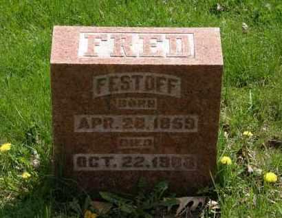 FESTOFF, FRED - Hardin County, Ohio   FRED FESTOFF - Ohio Gravestone Photos
