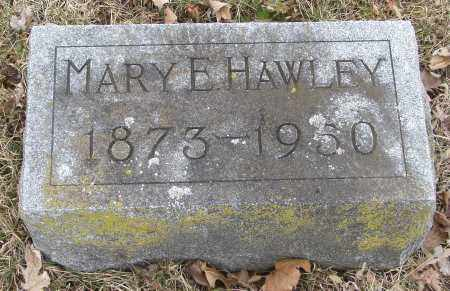 HAWLEY, MARY E - Hardin County, Ohio | MARY E HAWLEY - Ohio Gravestone Photos