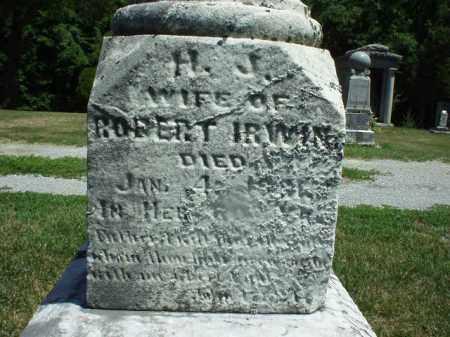IRWIN, HENRIETTA JANE - Hardin County, Ohio   HENRIETTA JANE IRWIN - Ohio Gravestone Photos