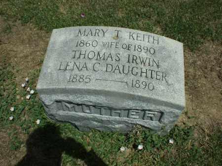KEITH IRWIN, MARY - Hardin County, Ohio   MARY KEITH IRWIN - Ohio Gravestone Photos
