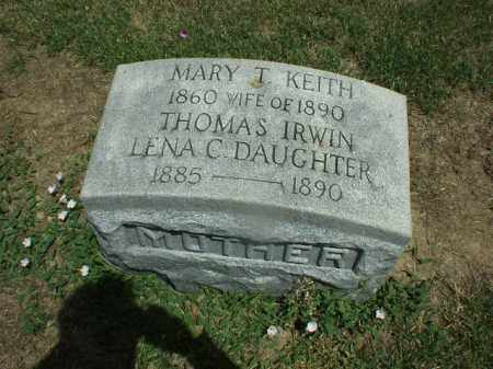 IRWIN, LENA - Hardin County, Ohio | LENA IRWIN - Ohio Gravestone Photos