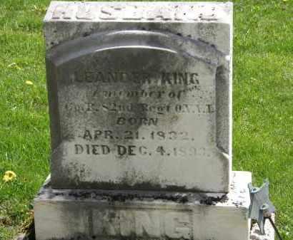 KING, LEANDER - Hardin County, Ohio   LEANDER KING - Ohio Gravestone Photos