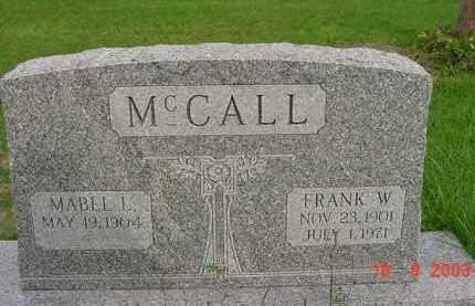 MCCALL, MABEL L. - Hardin County, Ohio | MABEL L. MCCALL - Ohio Gravestone Photos