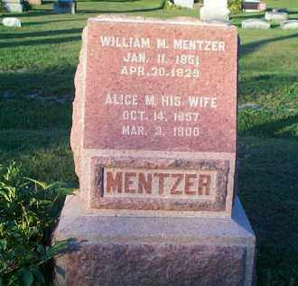 MENTZER, ALICE MARGARET - Hardin County, Ohio | ALICE MARGARET MENTZER - Ohio Gravestone Photos