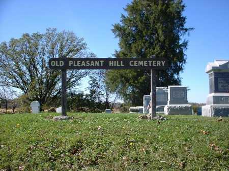 OLD PLEASANT HILL, CEMETERY SIGN - Hardin County, Ohio | CEMETERY SIGN OLD PLEASANT HILL - Ohio Gravestone Photos
